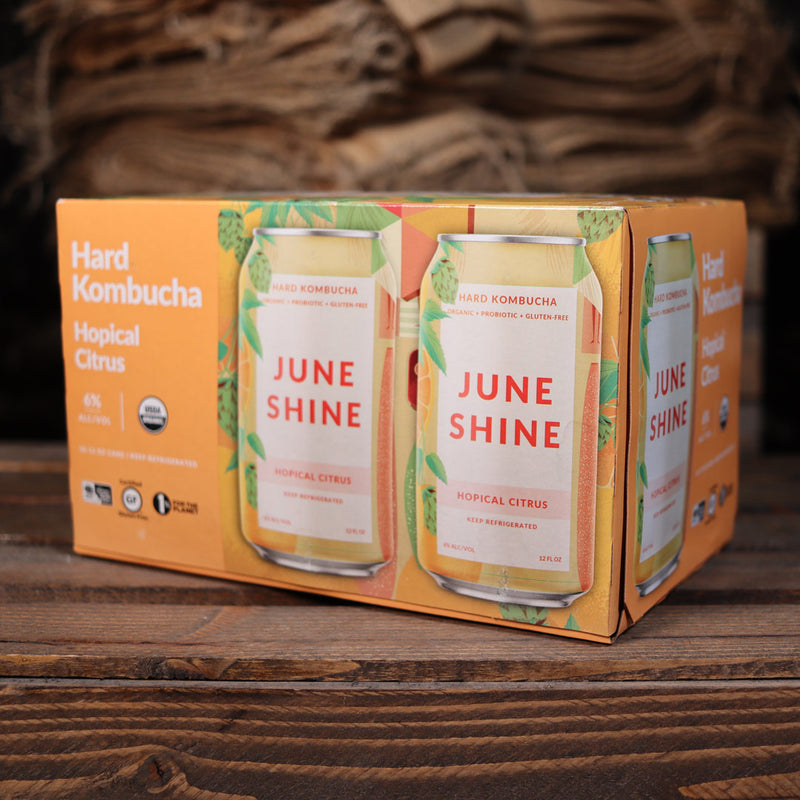 June Shine Kombucha Hopical Citrus 12 FL. OZ. 6PK Cans