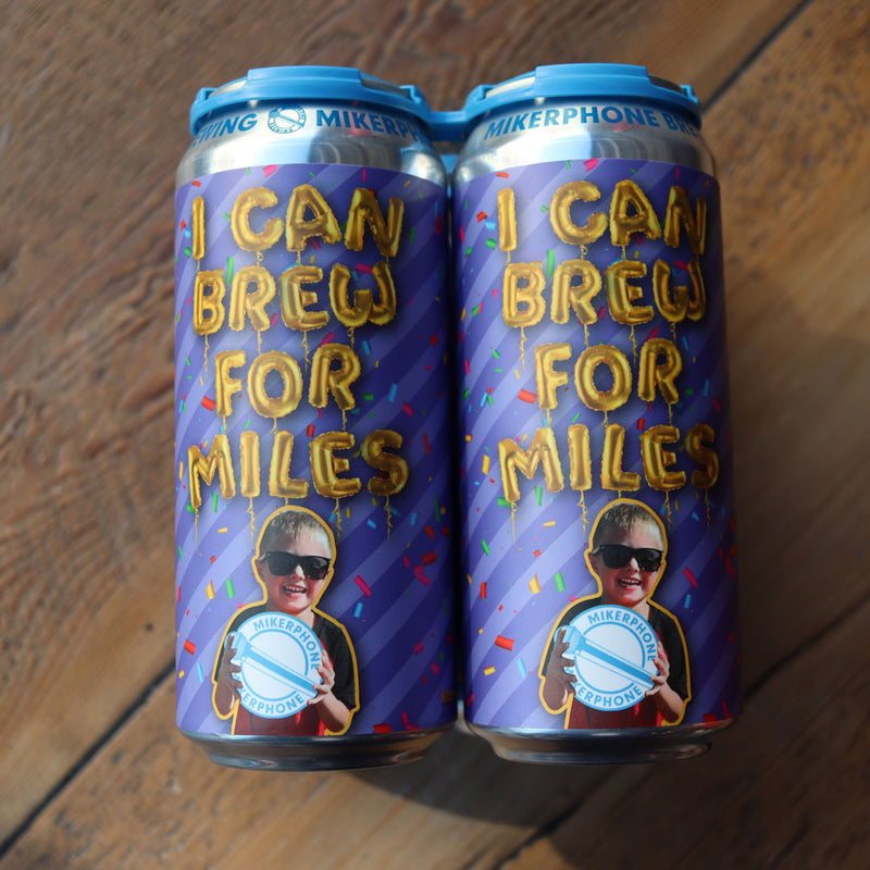 Mikerphone I Can Brew For Miles American Porter 16 FL. OZ. 4PK Cans