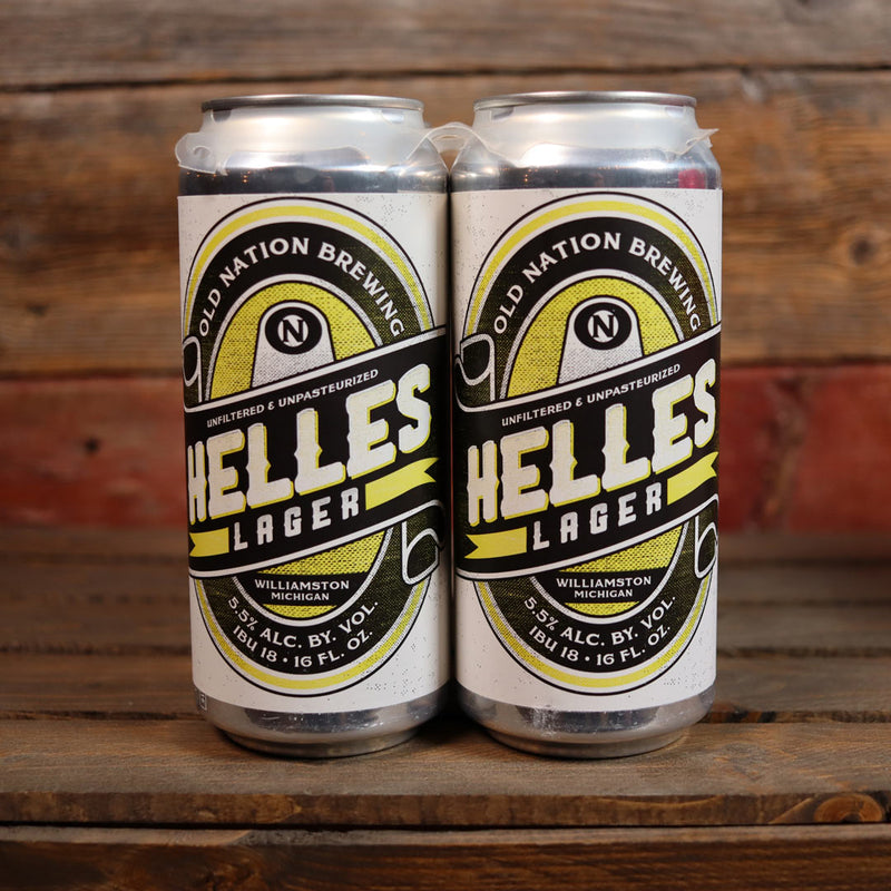 Old Nation Helles Lager 16 FL. OZ. 4PK Cans