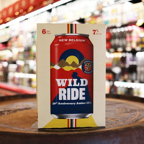 New Belgium Wild Ride 30th Anniversary Amber IPA 12 FL. OZ. 4PK Cans