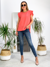 All The Frills Top - Coral