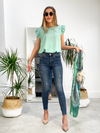 All The Frills Top - Mint Green