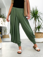 Ibizan Nights Harem Pants - Olive Green