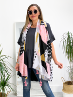 Say it with your Scarf - Abstract Scarf Grey