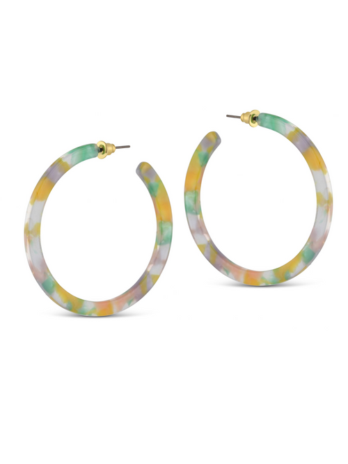 Sophia Resin Hoop Earrings