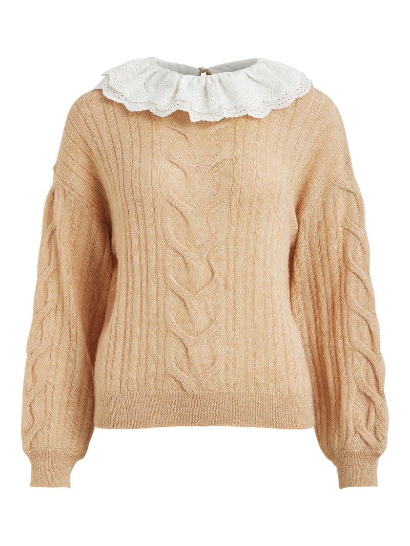 Elsebet Collar Knit Top