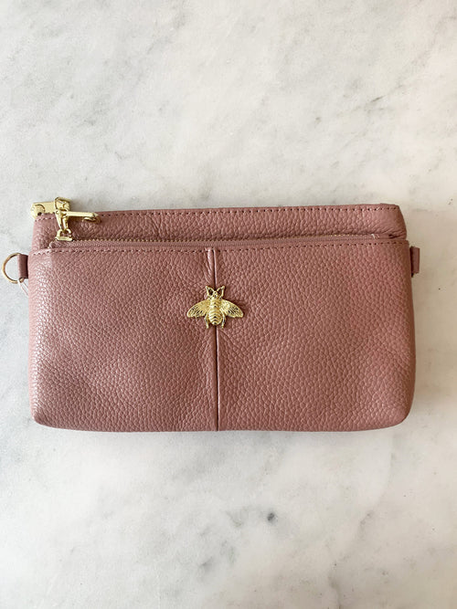 Bee Ready Leather Purse