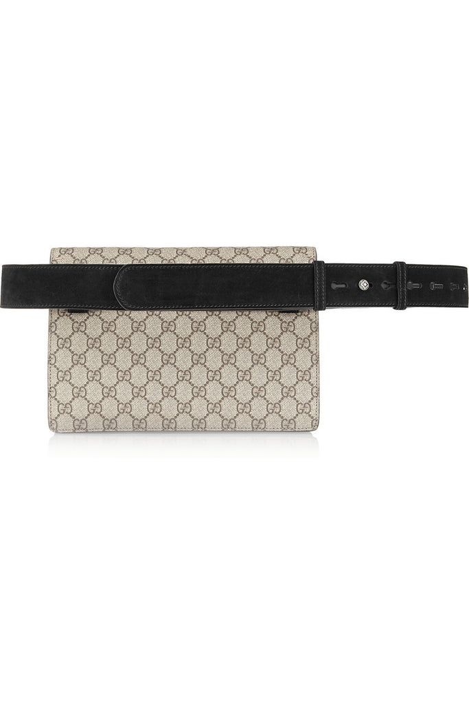 Dionysus coated canvas and suede belt bag