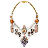 Fifi Opaline gold-tone, crystal and PVC necklace