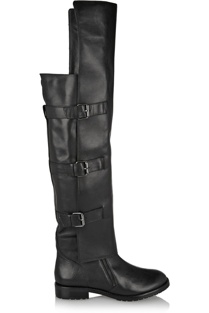 Gia leather over-the-knee boots