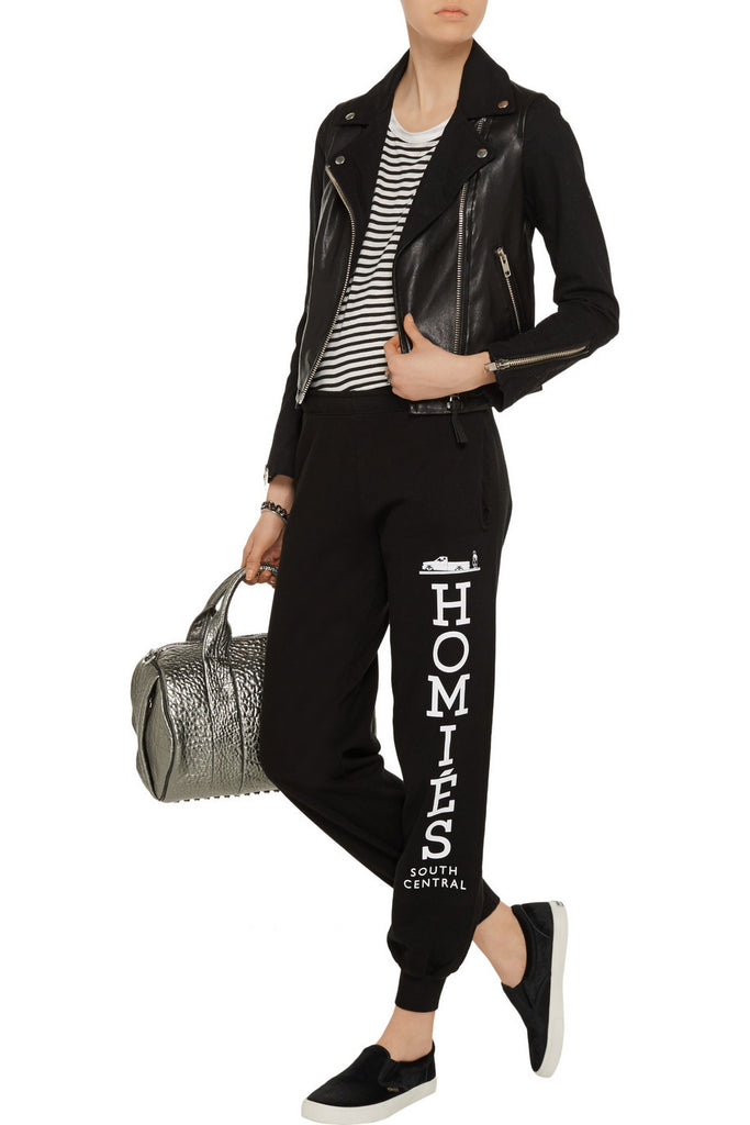 Homiés printed cotton-jersey track pants