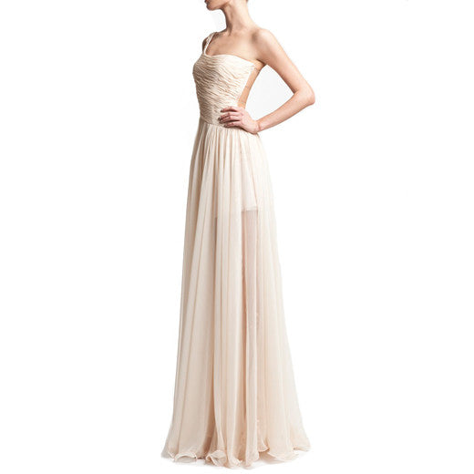 One-shoulder Goddess gown