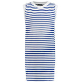 Striped stretch-cotton mini dress