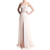Strapless geometric floor-length gown