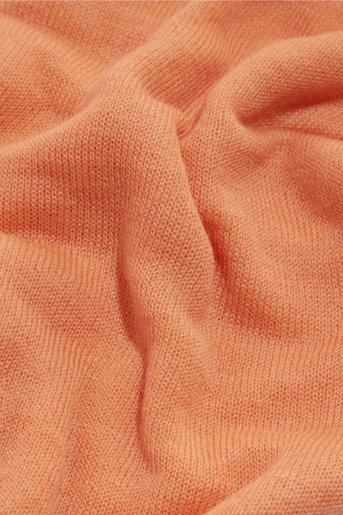 Cashmere scarf Coral