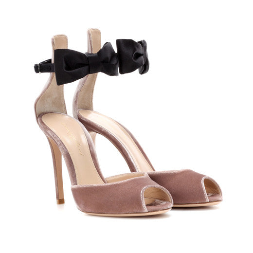 Gianvito Rossi Velvet and satin sandals