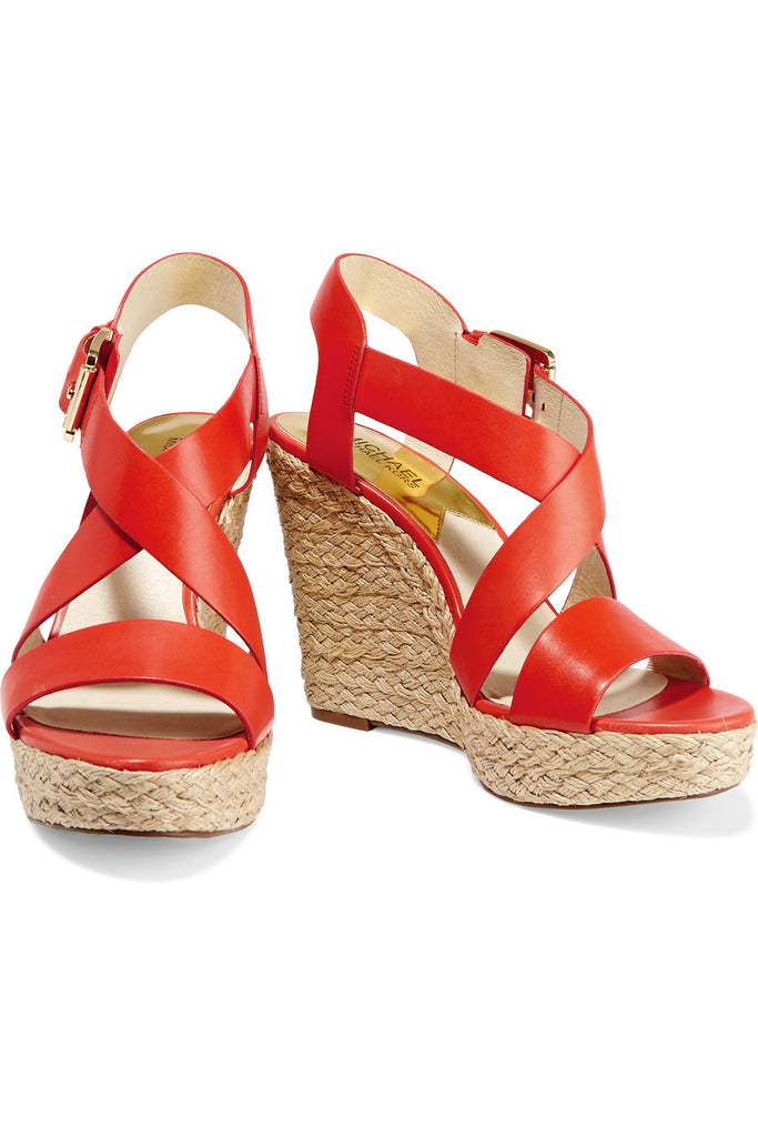 Giovanna leather wedge sandals