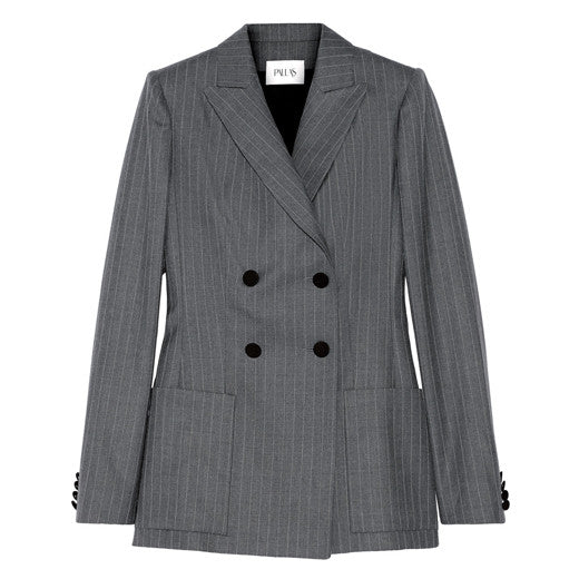 Junon pinstriped double-breasted wool blazer