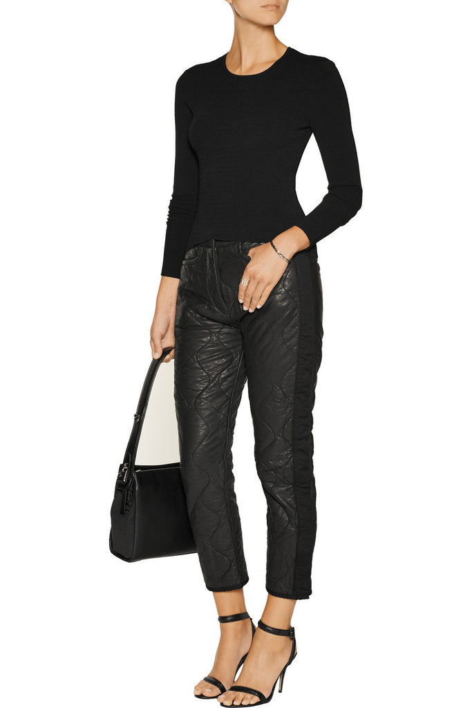 Quilted Leather Trousers