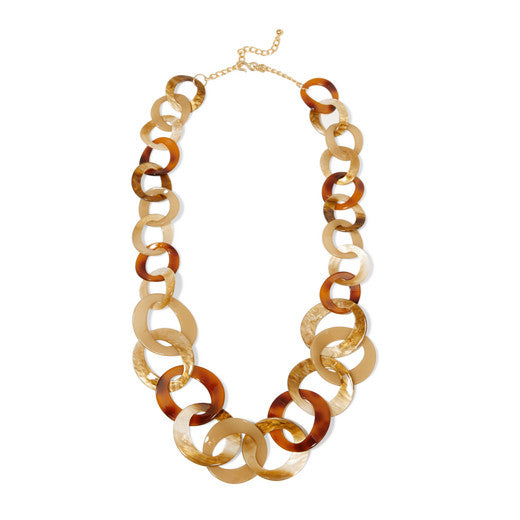 Tortoiseshell acetate necklace