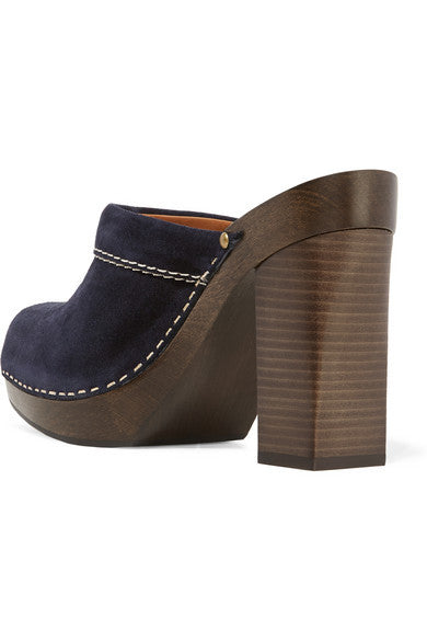 Angie suede clogs