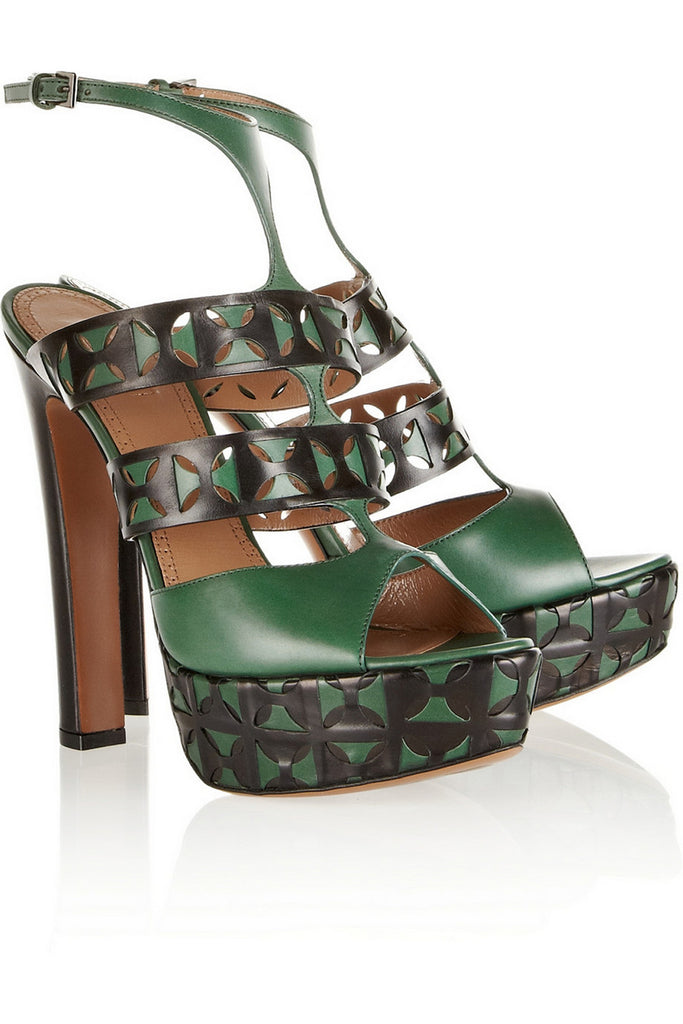Two-tone Strapped Sandals