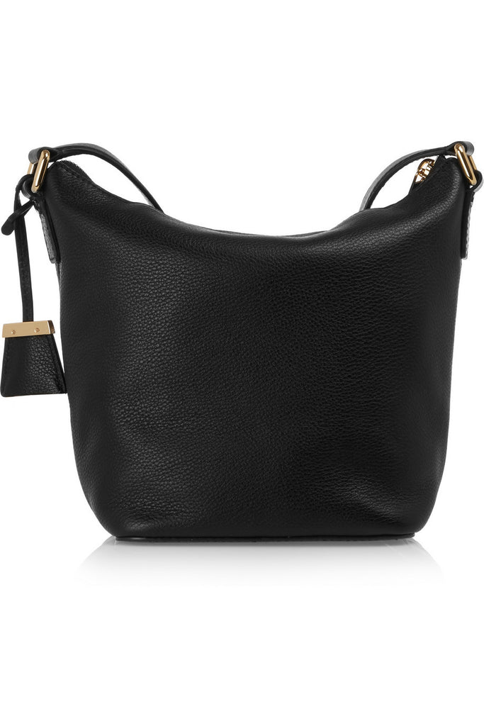 Bedford small textured-leather shoulder bag
