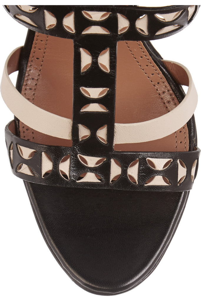Laser-cut Wedge Sandals