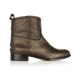 Harley metallic textured-leather ankle boots