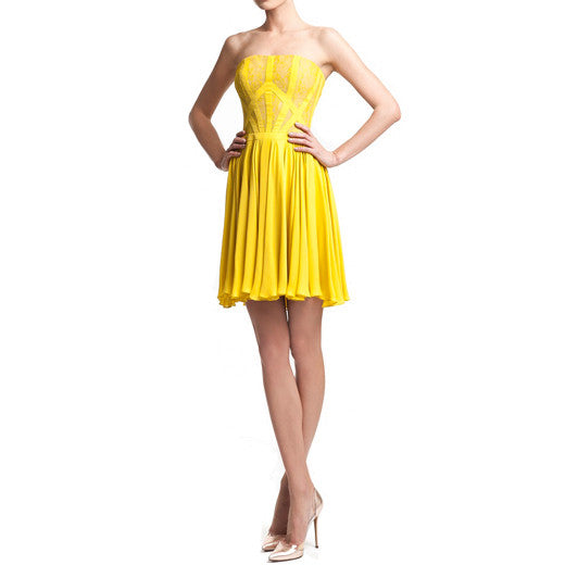 'Sunlight' strapless dress