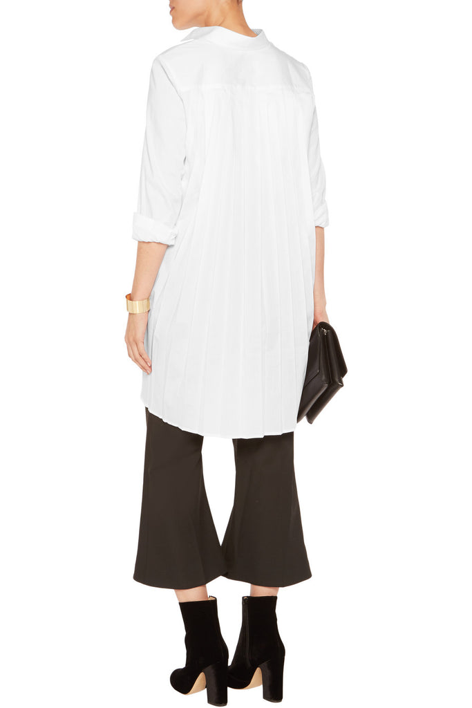 Pleated stretch-cotton shirt
