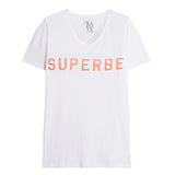 Superbe printed slub cotton and linen-blend T-shirt