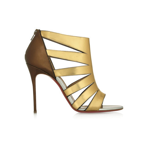 Cutout Metallic Sandals