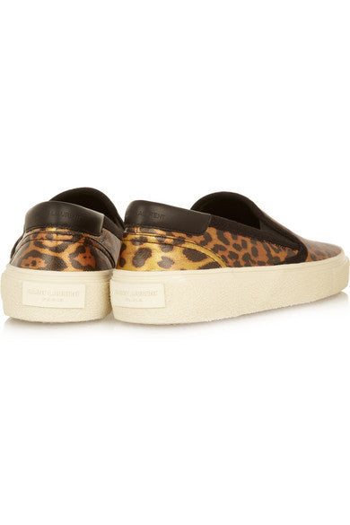 Leopard-print Slip-on Sneakers