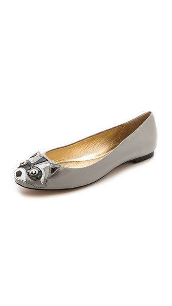 Racoon Patent-leather Flats