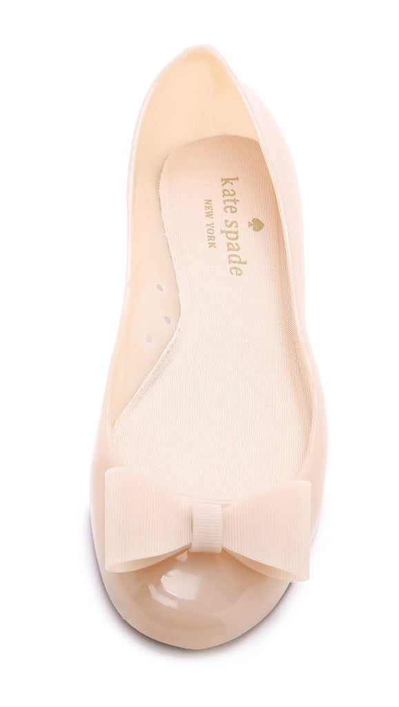 Rubber Bow-detailed Ballet Flats