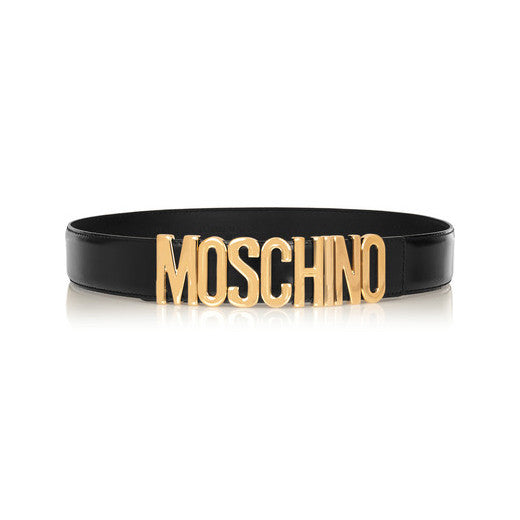 Patent-leather Logo Belt