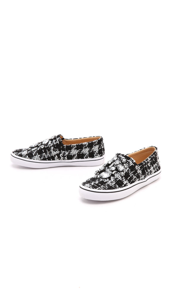 Tweed Slip-on Sneakers