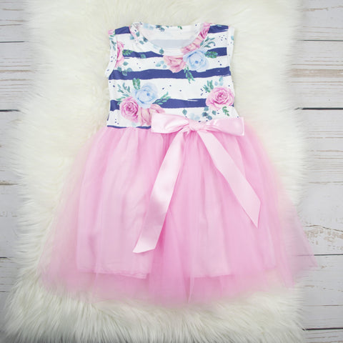 Cake and Co -Striped Roses Light Pink Tutu