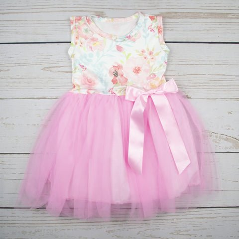 Cake and Co -Floral Light Pink Tutu