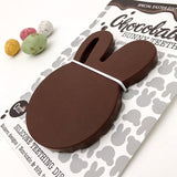 Easter Edition CHOCOLATE BUNNY & BEAR Silicone Teething Disc