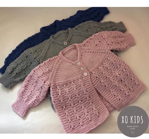 Hand Knitted Jumper/ Cardigan NB