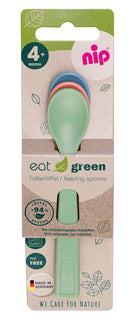 nip Eat Green Feeding Spoons - 3pk