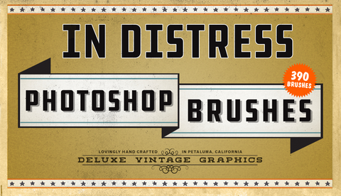 In-Distress Photoshop Mega-Brush Bundle