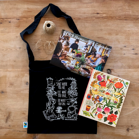 End of year package! Signed copy of Easy Peasy, Milkwood tote bag, 2021 Calendar + FREE SHIPPING