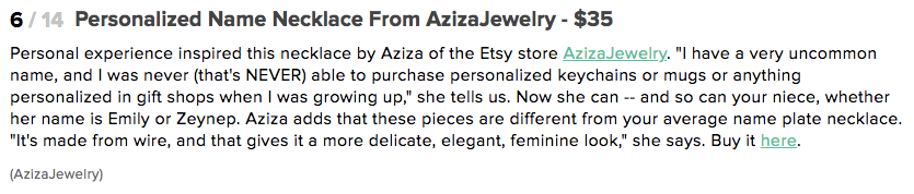 Aziza Jewelry featured on Huffington Post November 2011