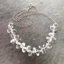 Load image into Gallery viewer, Crystal Necklace. Clear Crystal Quartz Polished Statement Necklace