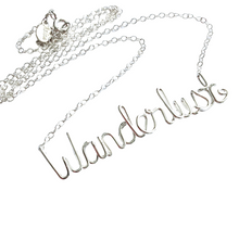 Load image into Gallery viewer, Wanderlust Necklace. Sterling Silver Wanderlust Necklace.