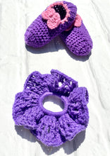 Load image into Gallery viewer, Crochet toddler turquoise loafers slippers handmade soft cute nice great gift with bow free