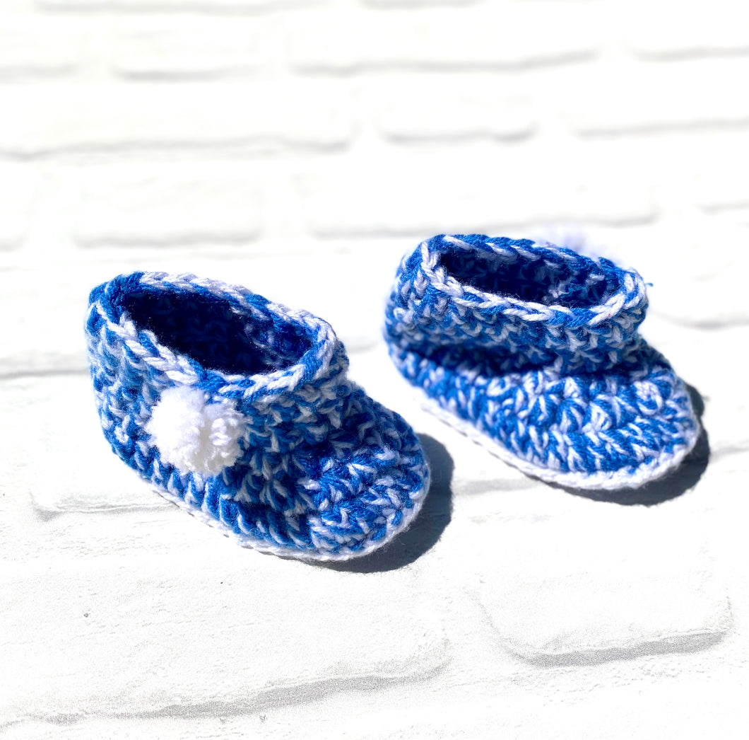 Blue Crochet Booties for Boys (Limited Offer)